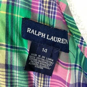 Ralph Lauren Dresses - Ralph Lauren | Girls Plaid Cotton Sundress Size 14